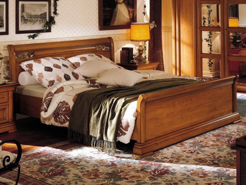 Cherry wood double bed CHOPIN | Double bed by Dall'Agnese
