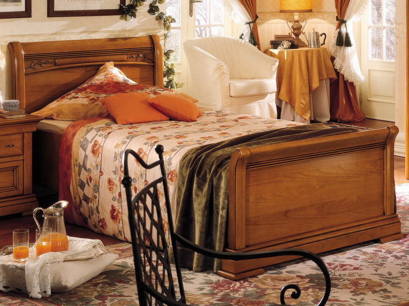 Cherry wood single bed CHOPIN | Single bed by Dall'Agnese