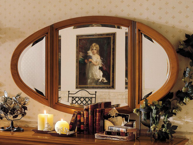 Oval wall-mounted mirror CHOPIN | Oval mirror by Dall'Agnese