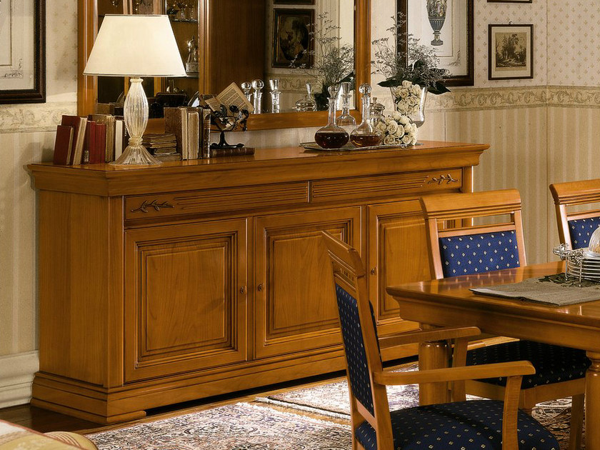 Cherry wood sideboard with doors CHOPIN | Sideboard with doors by Dall'Agnese