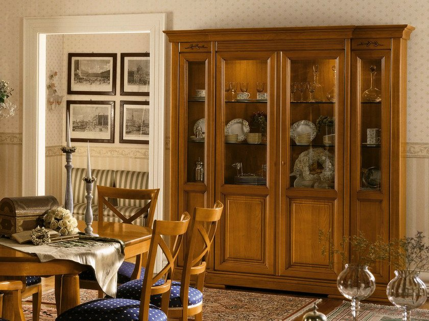 Cherry wood display cabinet CHOPIN | Display cabinet by Dall'Agnese
