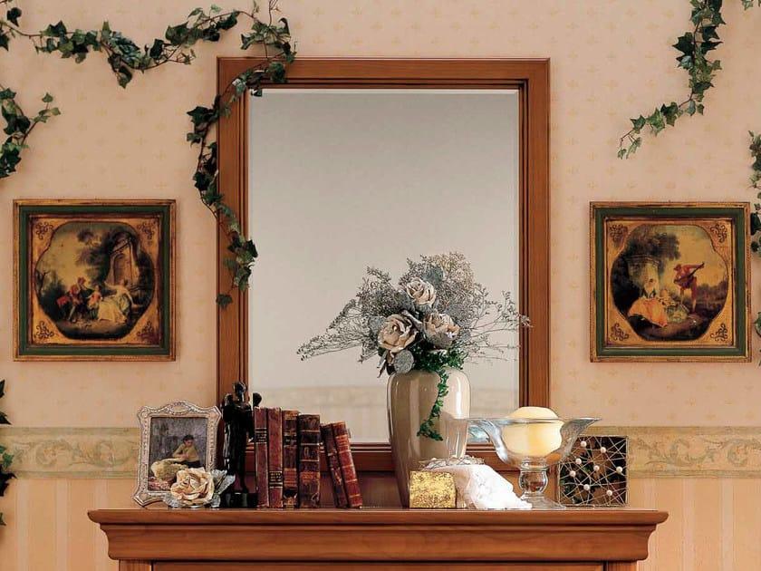 Rectangular wall-mounted cherry wood mirror CHOPIN   Rectangular mirror by Dall'Agnese