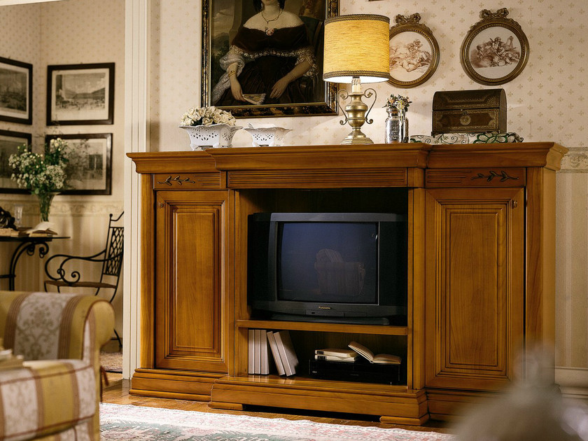 Cherry wood TV cabinet CHOPIN   TV cabinet by Dall'Agnese