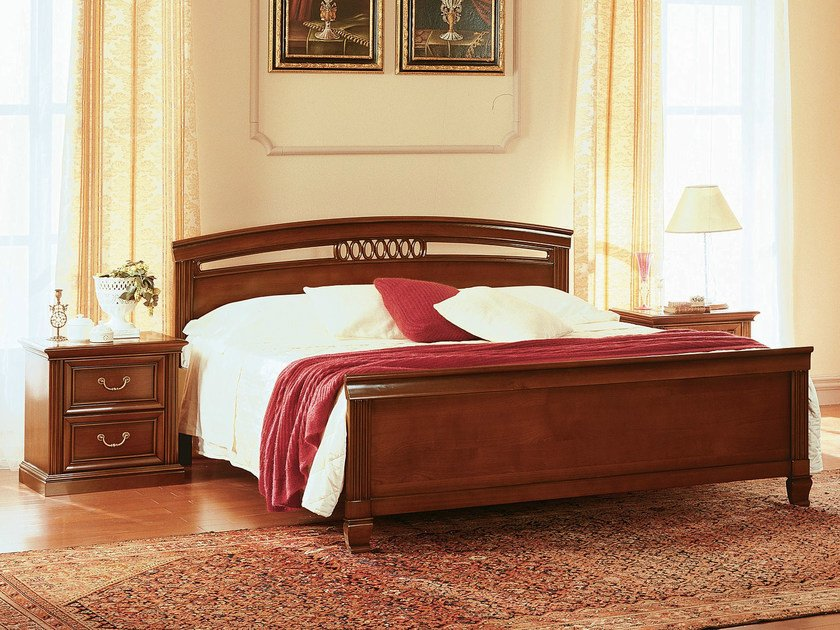 Cherry wood double bed VENEZIA | Double bed by Dall'Agnese