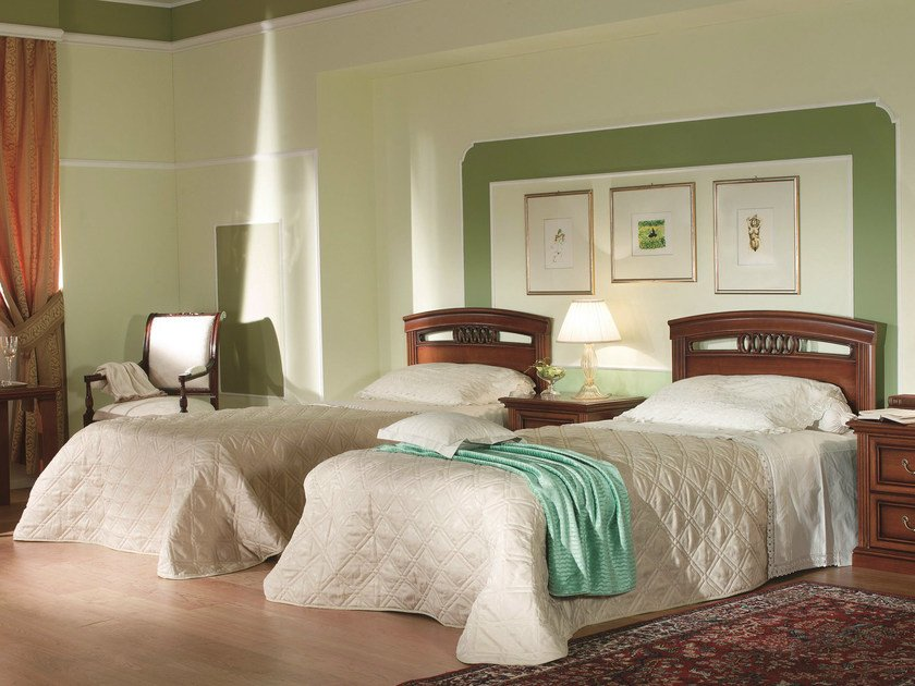 Cherry wood single bed VENEZIA   Hotel bed by Dall'Agnese