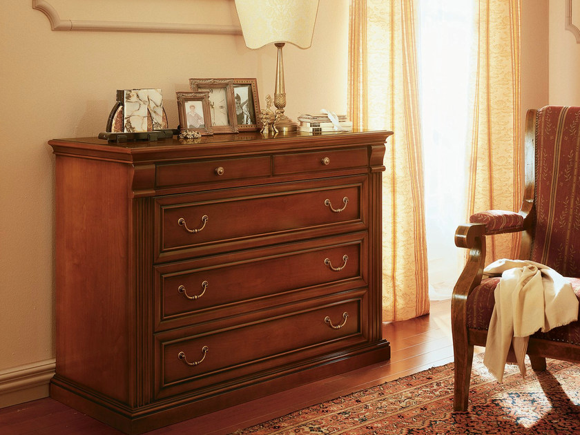 Cherry wood chest of drawers VENEZIA   Chest of drawers by Dall'Agnese