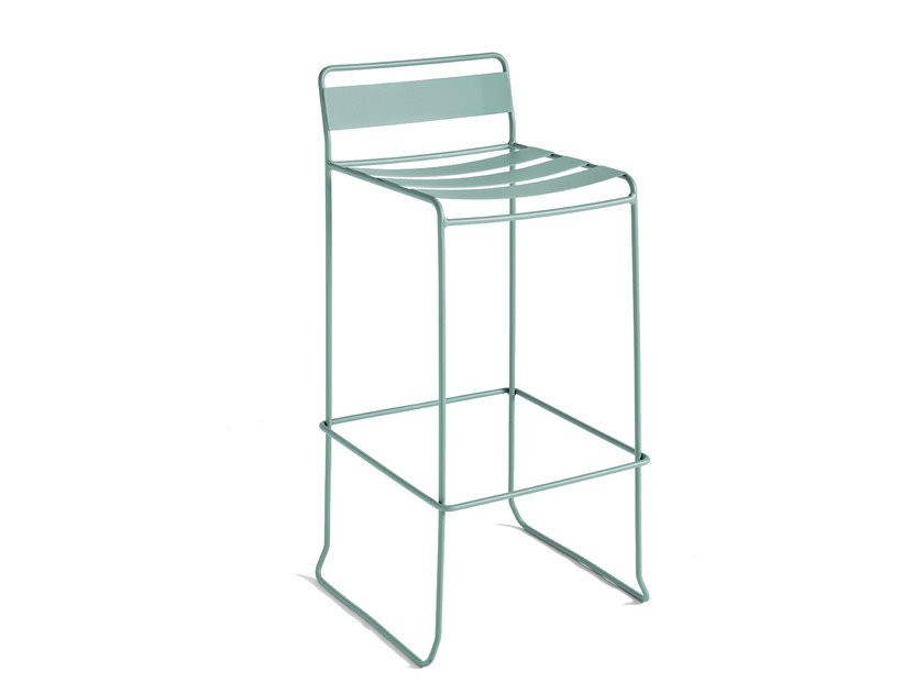 Steel garden stool with back PORTOFINO | Stool by iSimar