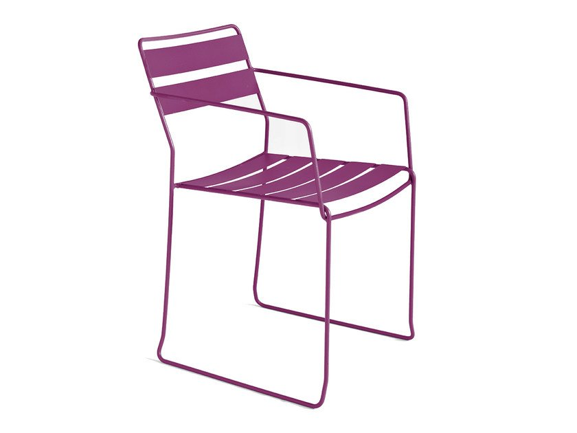 Metal garden chair with armrests PORTOFINO | Chair with armrests by iSimar