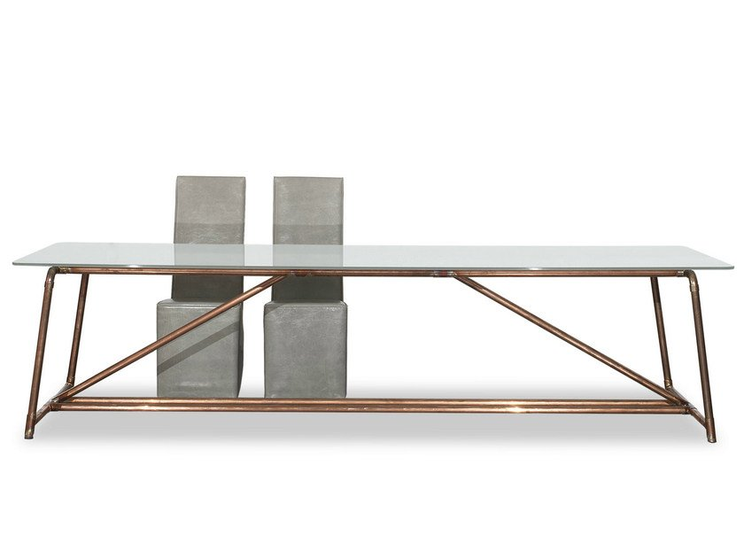 Tempered glass table BROOKLYN by BAXTER