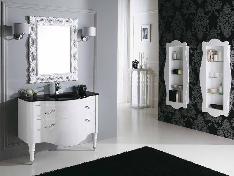 Lacquered Vanity Unit With Drawers DECÒ D02 By LEGNOBAGNO