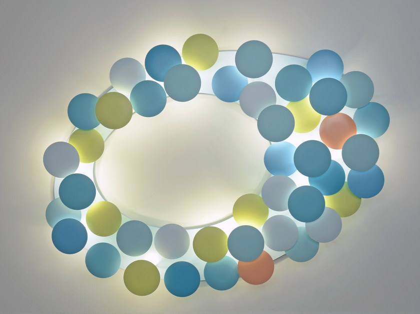 LED aluminium ceiling lamp MILLELUMEN CIRCLES | Ceiling lamp by millelumen