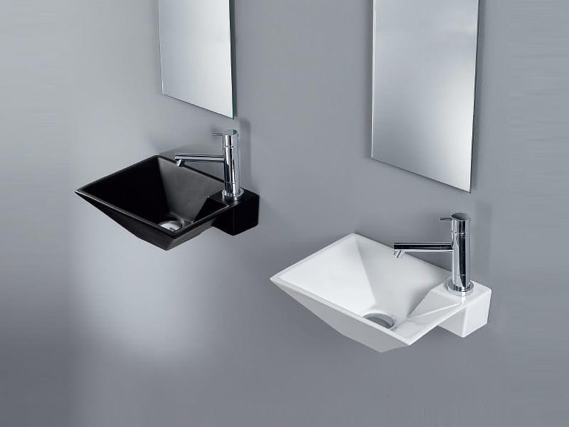 Rectangular wall-mounted handrinse basin CLESSIDRA by A. e T. Italia