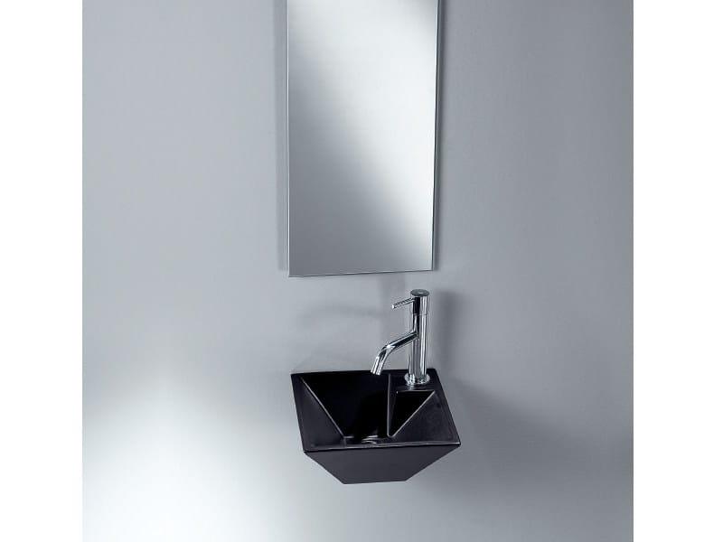 Wall-mounted handrinse basin PIRAMID by A. e T. Italia