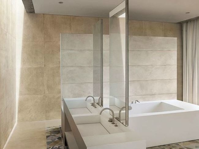 Porcelain stoneware wall/floor tiles with concrete effect ONE GESSO by Ceramiche Caesar
