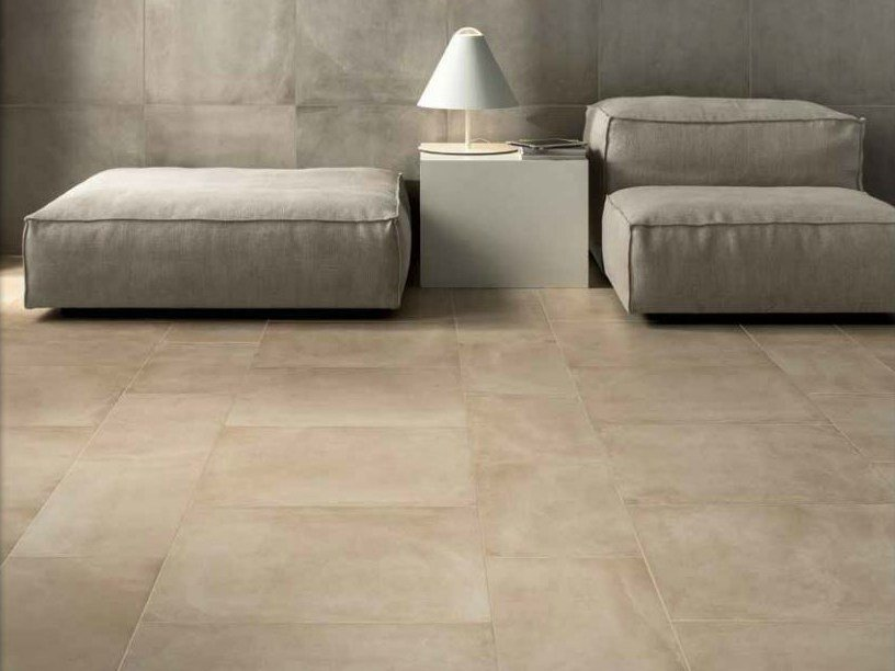 Porcelain stoneware wall/floor tiles with concrete effect ONE ROPE by Ceramiche Caesar