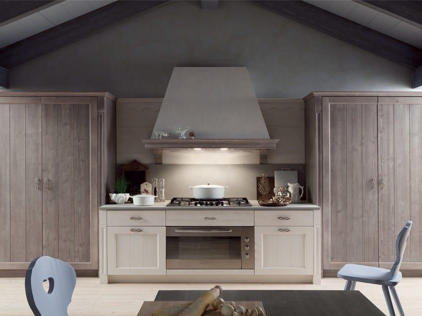Cucina lineare in stile rustico TABIÀ T03 - Scandola Mobili