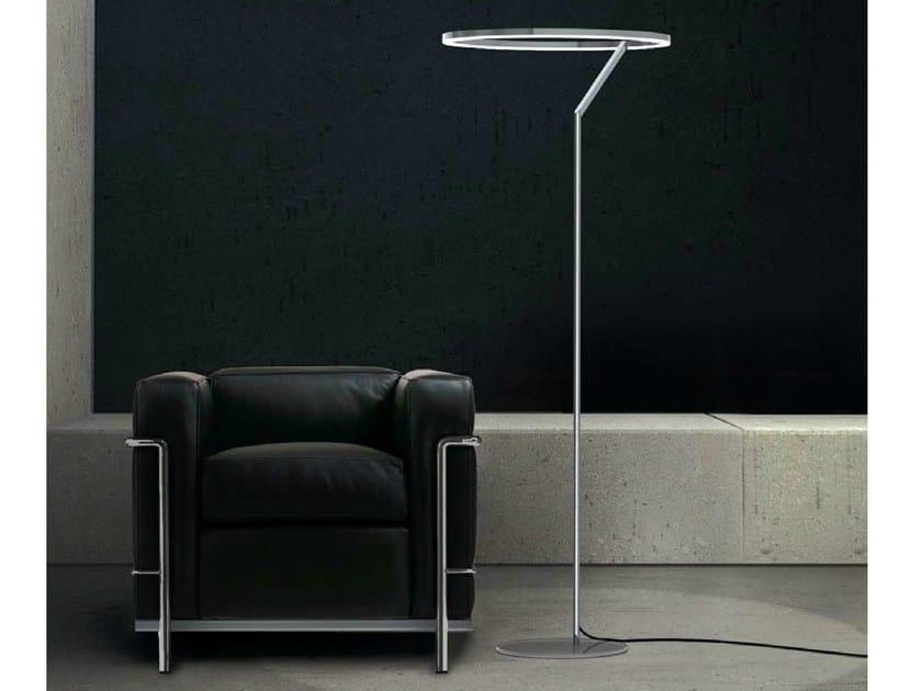 LED aluminium floor lamp CIRCOLO INSOSPESO | Floor lamp by Sattler