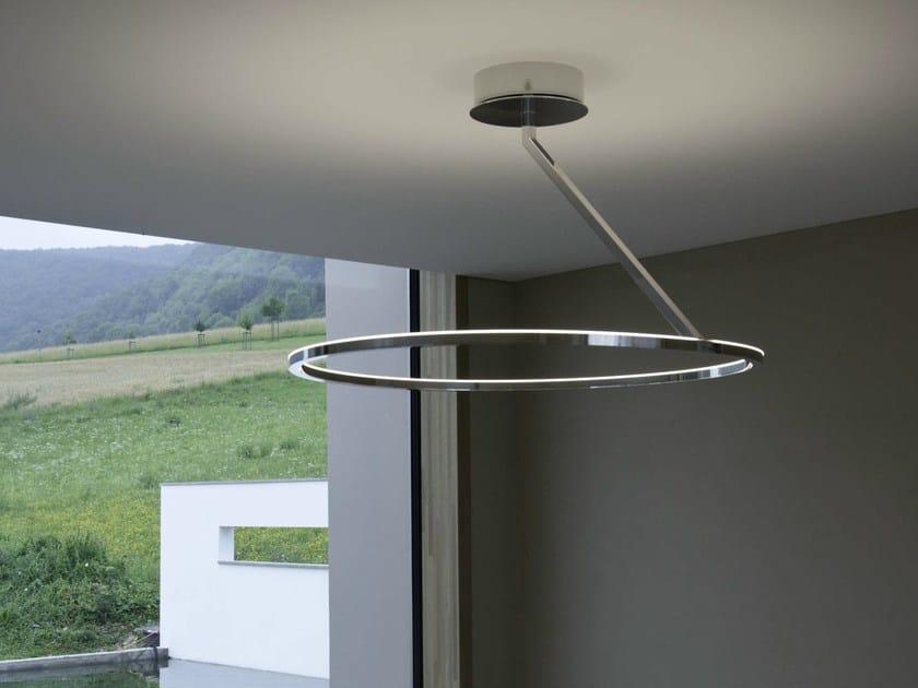 LED aluminium ceiling lamp CIRCOLO INSOSPESO | Ceiling lamp by Sattler