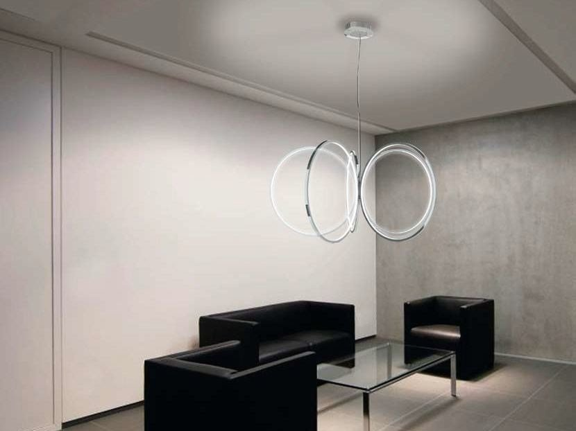 LED aluminium chandelier INIZIO by Sattler