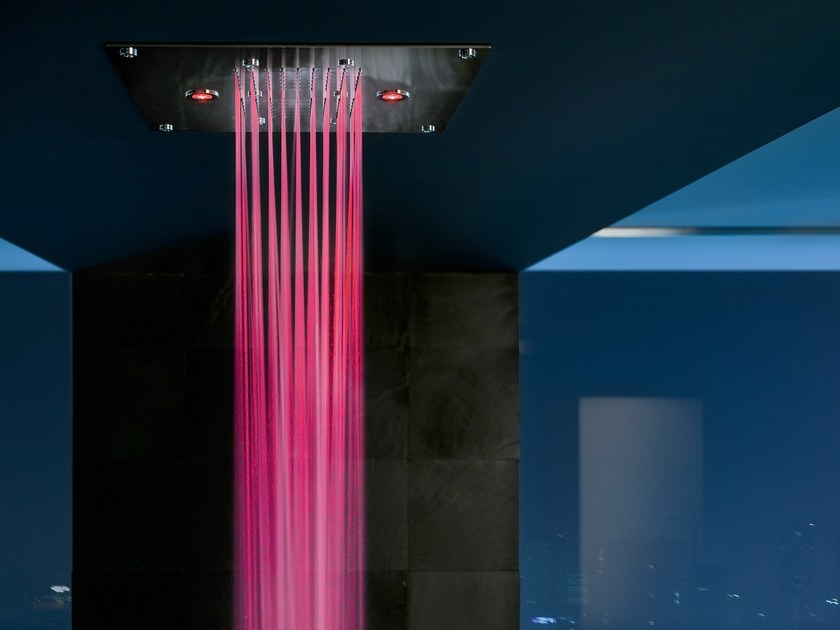 Rain shower with aromatherapy with chromotherapy FREE SHOWER | Overhead shower for chromotherapy by Nobili Rubinetterie