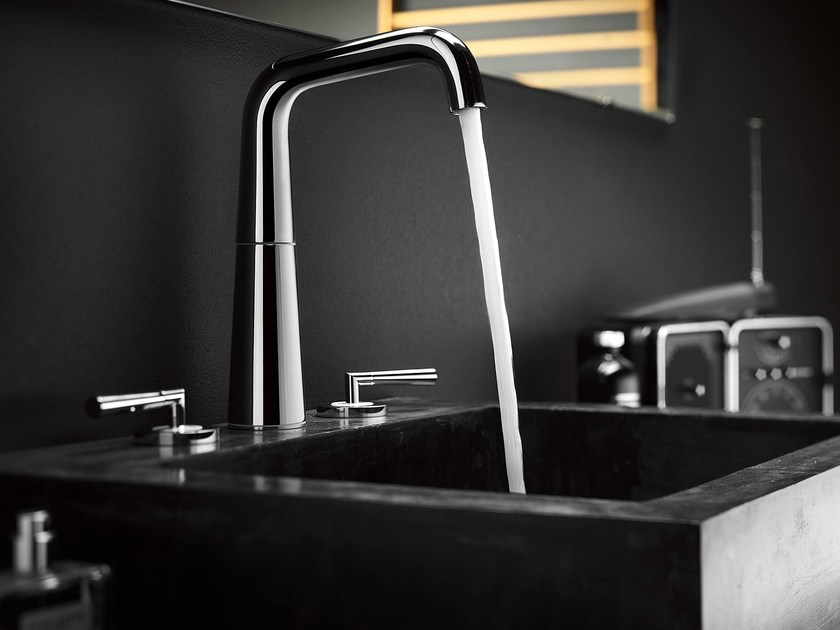 3 hole chrome-plated washbasin tap LIKID | 3 hole washbasin tap by Nobili Rubinetterie