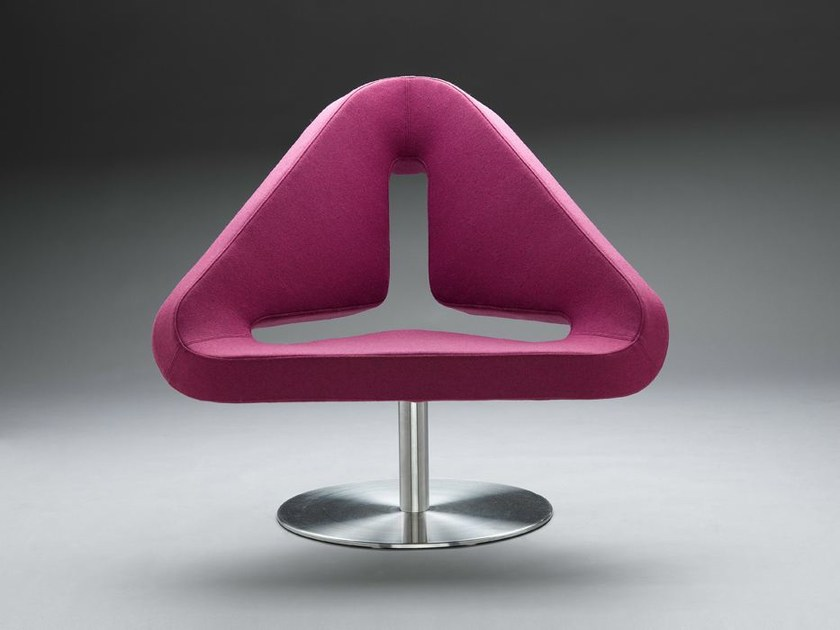 Swivel easy chair with removable cover IXY by mminterier