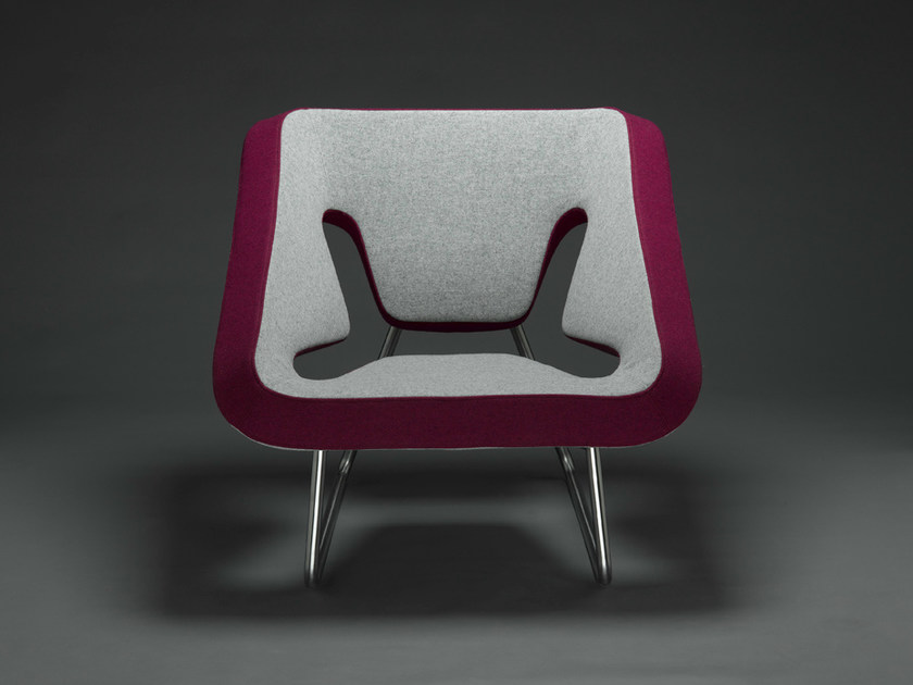 Sled base upholstered easy chair IXY&KOXY | Sled base easy chair by mminterier