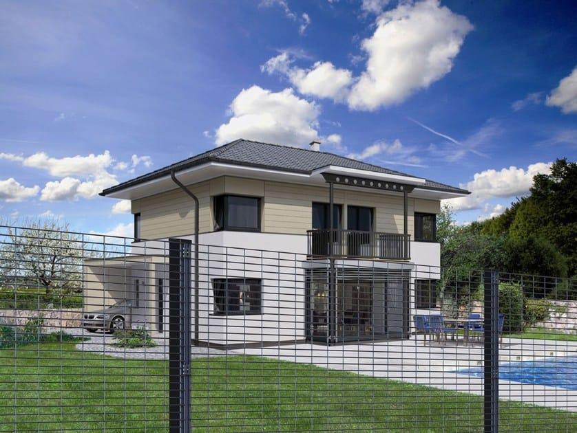Chain-link modular steel Fence ZENTURO® SECURE by BETAFENCE ITALIA