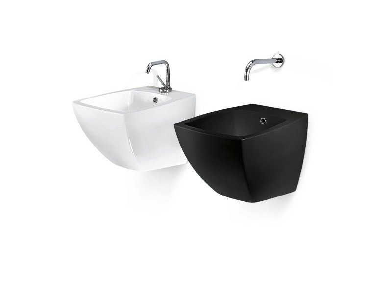 Design wall-mounted washbasin SQUARE COMPACT by A. e T. Italia