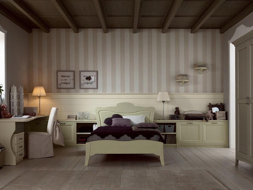 Solid wood bedroom set NUOVO MONDO N12 by Scandola Mobili