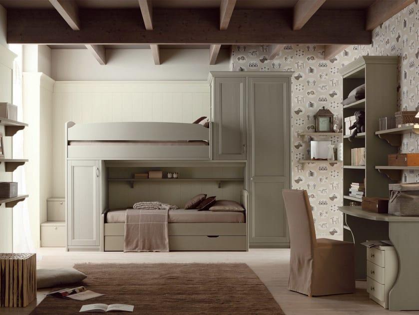 Bedroom set with bridge wardrobe for boys/girls NUOVO MONDO N11 by Scandola Mobili