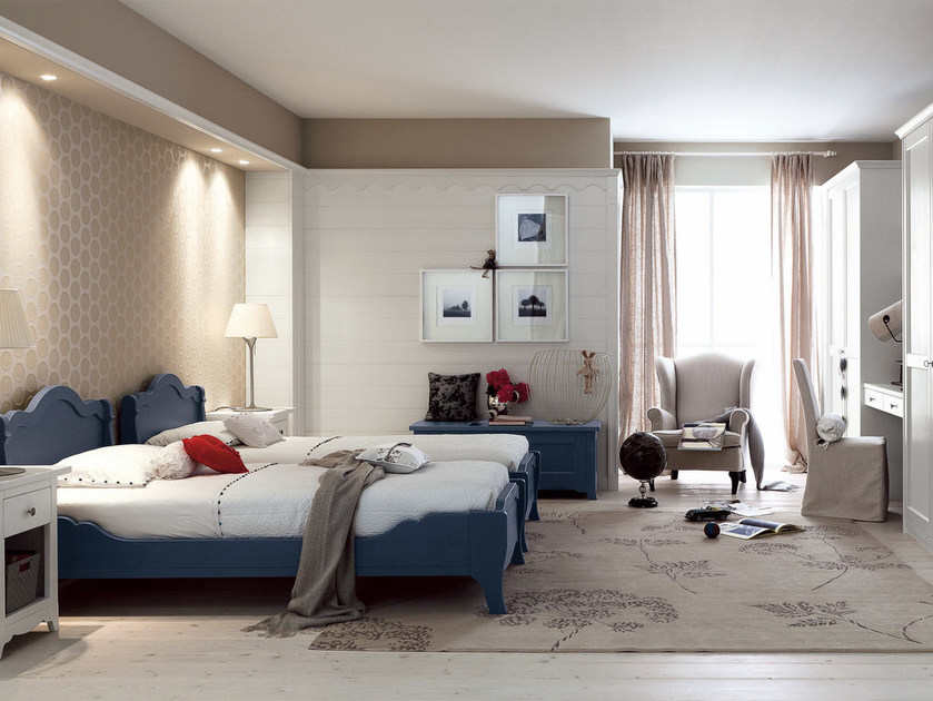 Wooden bedroom set for boys NUOVO MONDO N14 by Scandola Mobili