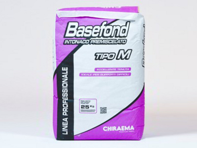Fibre-reinforced and special plaster BASEFOND M - F by CHIRAEMA