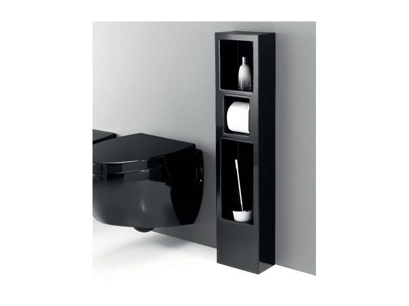 Ceramic toilet roll holder / soap dish WALL THREE by A. e T. Italia