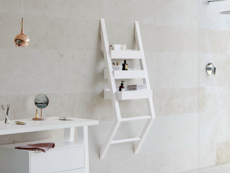 Open suspended ash bathroom cabinet EXPO | Suspended bathroom cabinet by Graff Europe West