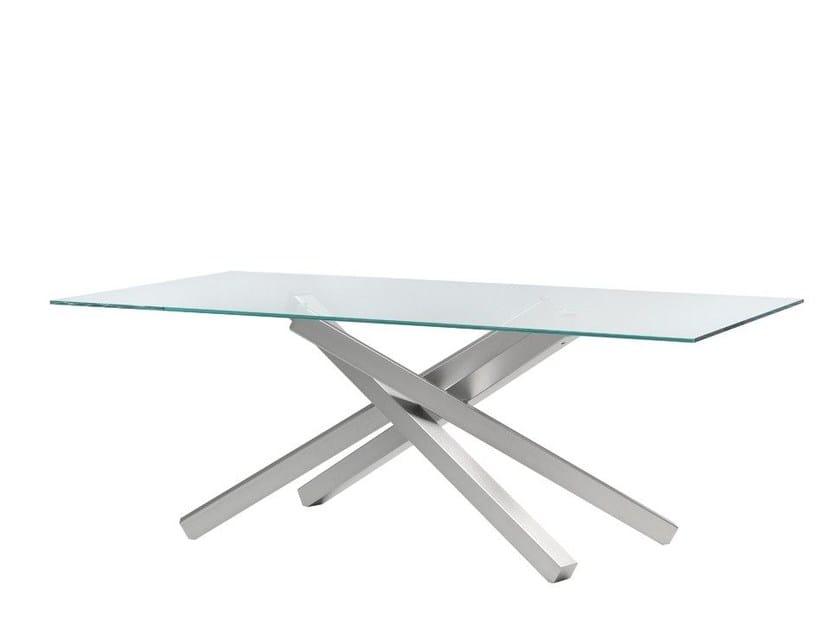 Tavoli in acciaio e vetro | Archiproducts