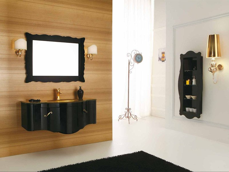 Wall-mounted vanity unit DECÒ D05 by LEGNOBAGNO
