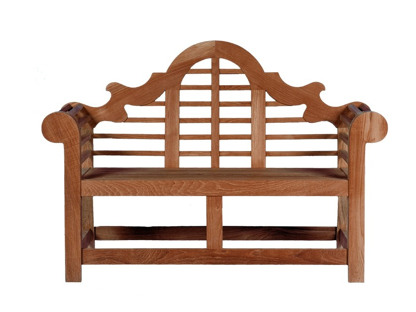 Teak garden bench with armrests LANCASTER by Tectona