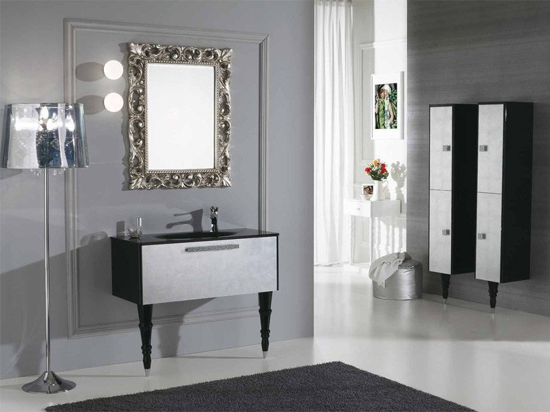 Lacquered Vanity Unit With Drawers DECÒ D11 By LEGNOBAGNO Great Pictures