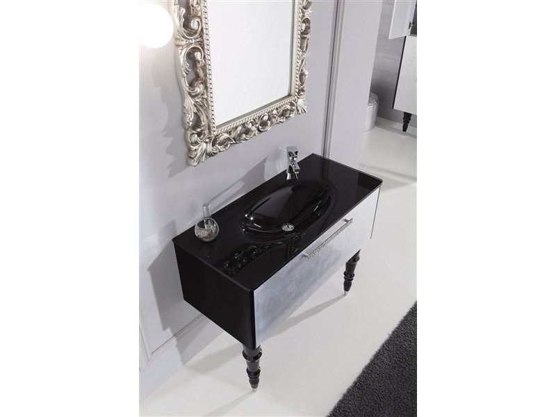 Lacquered Vanity Unit With Drawers DECÒ D11 By LEGNOBAGNO