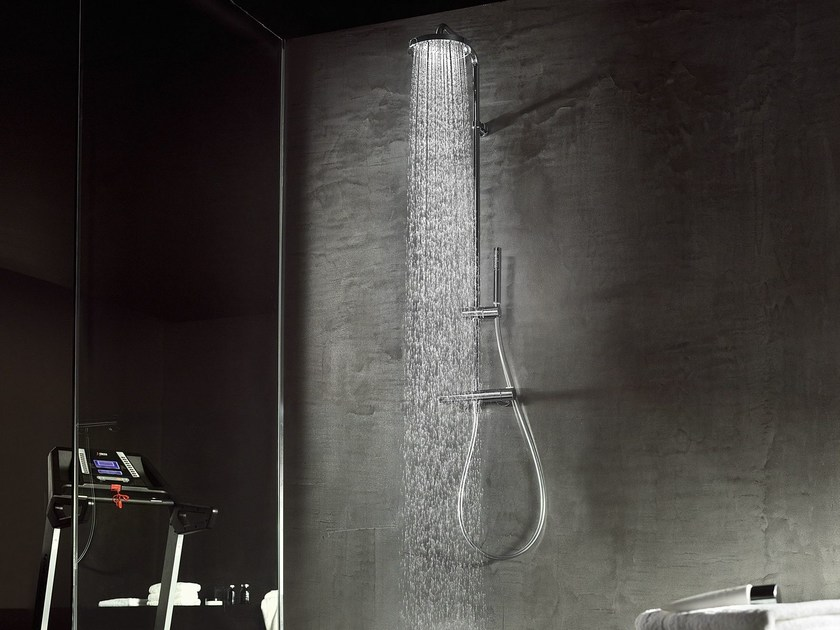 Thermostatic shower panel with overhead shower LIKID | Shower panel by Nobili Rubinetterie