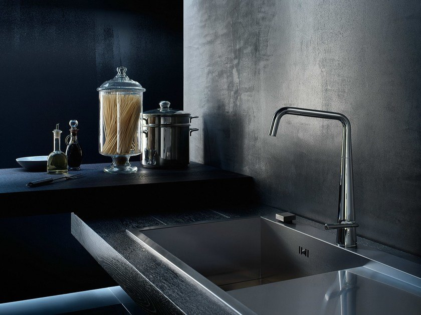 Chrome-plated kitchen mixer tap with swivel spout LIKID | Kitchen mixer tap by Nobili Rubinetterie
