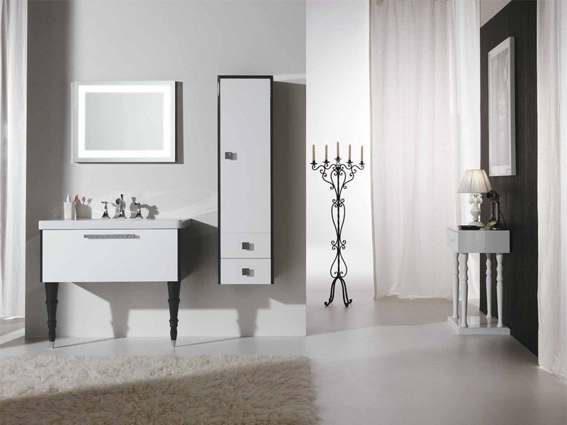Superior Lacquered Vanity Unit With Drawers DECÒ D14 By LEGNOBAGNO