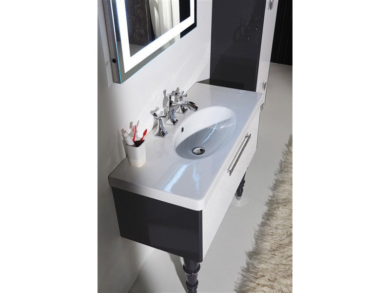 Perfect Lacquered Vanity Unit With Drawers DECÒ D14 By LEGNOBAGNO