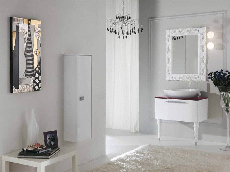 Lacquered vanity unit with drawers DECÒ D15 by LEGNOBAGNO