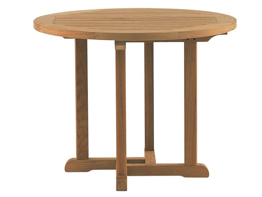 Round teak garden table BARKLEY by Tectona