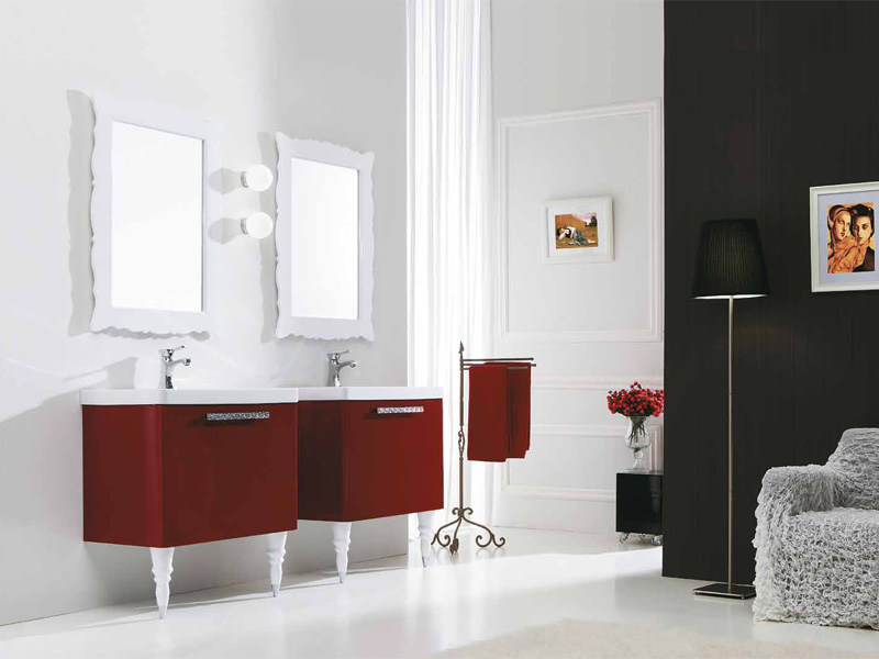 Lacquered vanity unit with drawers DECÒ D17 by LEGNOBAGNO