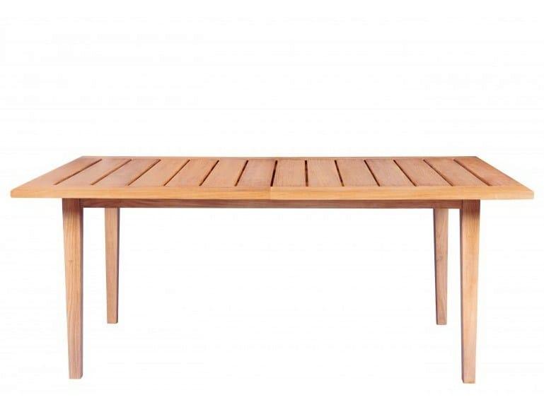 Extending rectangular teak garden table EXETER | Extending table by Tectona