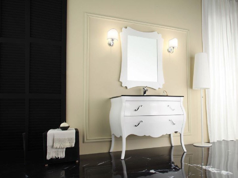 Wooden vanity unit with drawers VANITY 1 by LEGNOBAGNO