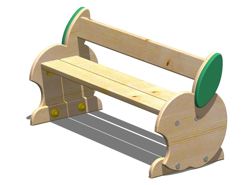 Wooden Bench / Kids bench MELA | Kids bench by Legnolandia